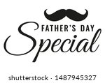 moustache icon with text happy... | Shutterstock .eps vector #1487945327