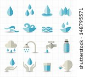 water related icons | Shutterstock .eps vector #148795571