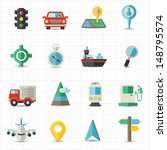 map navigation and... | Shutterstock .eps vector #148795574