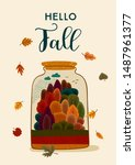 autumn design with autumn... | Shutterstock .eps vector #1487961377