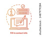 fill in contact info red... | Shutterstock .eps vector #1487979284