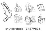 a set of 7 illustrated ... | Shutterstock .eps vector #14879836
