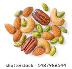 Unsalted Mixed Nuts Isolated On ...