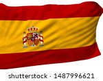 spain flag is waving in the... | Shutterstock . vector #1487996621