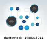flowchart template  scheme ... | Shutterstock .eps vector #1488015011