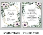 vector template for wedding... | Shutterstock .eps vector #1488016931