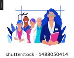 medical insurance illustration  ... | Shutterstock .eps vector #1488050414