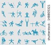 sport icons set. vector  | Shutterstock .eps vector #148805321
