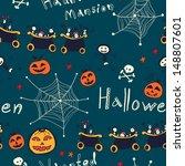 hand drawn seamless retro... | Shutterstock .eps vector #148807601
