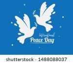 Simple Pigeon With Leaf Symbol...