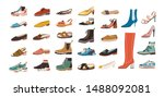 collection of stylish elegant... | Shutterstock .eps vector #1488092081