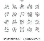 super hero well crafted pixel... | Shutterstock .eps vector #1488093974