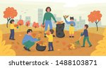 large family of volunteers... | Shutterstock .eps vector #1488103871