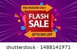 flash sale design for business. ... | Shutterstock .eps vector #1488141971