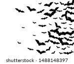 dangerous black bats group... | Shutterstock .eps vector #1488148397
