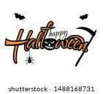 the inscription happy halloween ... | Shutterstock . vector #1488168731