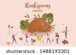 tiny people characters cooking... | Shutterstock .eps vector #1488193301