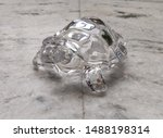 Stock photo crystal tortoise made with glass 1488198314