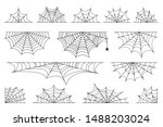 set of spider web for halloween.... | Shutterstock .eps vector #1488203024