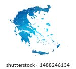 abstract greece map geometric... | Shutterstock .eps vector #1488246134