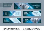 abstract banner design web... | Shutterstock .eps vector #1488289907