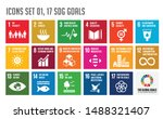 icon set of the global goals.... | Shutterstock .eps vector #1488321407