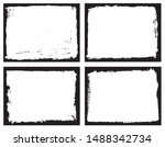 set of grunge border frames | Shutterstock .eps vector #1488342734