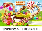 candy board game for children... | Shutterstock .eps vector #1488350441