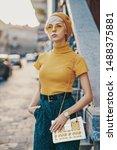 outdoor fashion portrait of...   Shutterstock . vector #1488375881