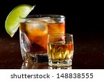 cuba libre  rum and cola... | Shutterstock . vector #148838555