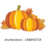 beautiful pumpkins and autumn... | Shutterstock .eps vector #148840724