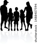 family of silhouettes. vector... | Shutterstock .eps vector #1488407594