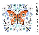 cute  butterfly for your design.... | Shutterstock .eps vector #1488408311