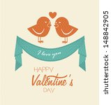 i love you design over white... | Shutterstock .eps vector #148842905