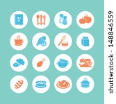 food icons | Shutterstock .eps vector #148846559