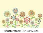 flowers   Shutterstock .eps vector #148847321