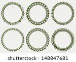 set of round frames  | Shutterstock .eps vector #148847681