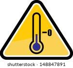 low temperature warning sign   Shutterstock .eps vector #148847891
