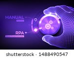 rpa robotic process automation... | Shutterstock .eps vector #1488490547