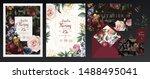 wedding invitation  save the... | Shutterstock .eps vector #1488495041