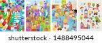 children and kids  cute vector...   Shutterstock .eps vector #1488495044