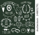 wedding graphic set  arrows ... | Shutterstock .eps vector #148851791