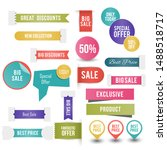 colorful sale tags collection....   Shutterstock .eps vector #1488518717
