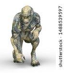 3d cg rendering of alien | Shutterstock . vector #1488539597