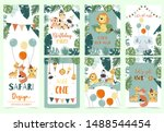 green animal collection of... | Shutterstock .eps vector #1488544454