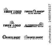 Flat Modern Tyres Logo Vector