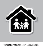 family insurance over gray... | Shutterstock .eps vector #148861301