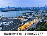 Asia China Jiangsu Wuxi City Architecture Night Scene