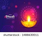 illuminated golden oil lamp...   Shutterstock .eps vector #1488630011