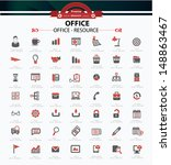 set of web icons for office... | Shutterstock .eps vector #148863467
